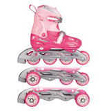 Nijdam Inline Skates 3-1, verstelbaar (roze)_