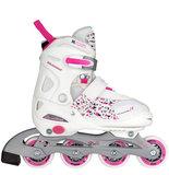Nijdam Inline Skates, verstelbaar (wit)