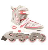 Nijdam Combi Skate & Schaats, 2 in 1, verstelbaar (wit)_