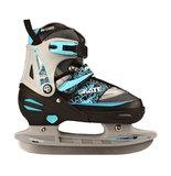 Nijdam Combi Skate & Schaats, 2 in 1, verstelbaar (zwart)_