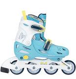 Nijdam Inline Skates, verstelbaar (lichtblauw)_