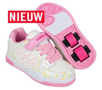 Heelys PLUS X2 (White/Light Pink/Multi Logo)