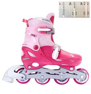 Nijdam Inline Skates 3-1, verstelbaar (roze)