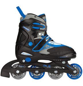 Nijdam Inline Skates, verstelbaar (zwart)