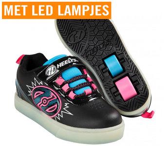 (maat 31 & 32) Heelys POW LIGHTED (Black/Neon Blue/Neon Pink)