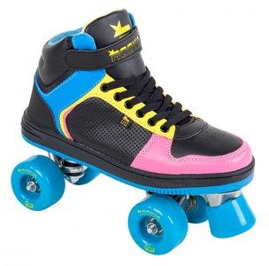 Rookie Rolschaatsen HYPE HI TOP (zwart/blauw/roze/geel)
