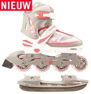Nijdam-Combi-Skate-&-Schaats-2-in-1-verstelbaar-(wit)