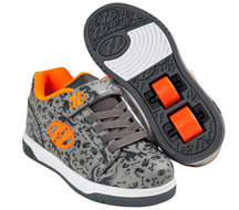 Heelys-DUAL-UP-DINO-(Grey-Charcoal-Orange)